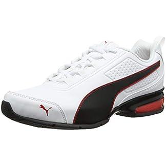 PUMA Unisex Adult Leader VT SL Sneaker, Weiß (White-Black-Flame Scarlet), 44 EU 10