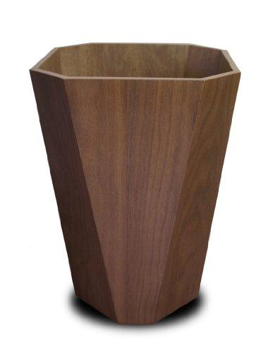 オクタゴナルダストボックス / ウォールナット ( Octagonal Dustbox / Walnut ) |ウッドダストボックス|ウッドゴミ箱|木... B001QU3R26
