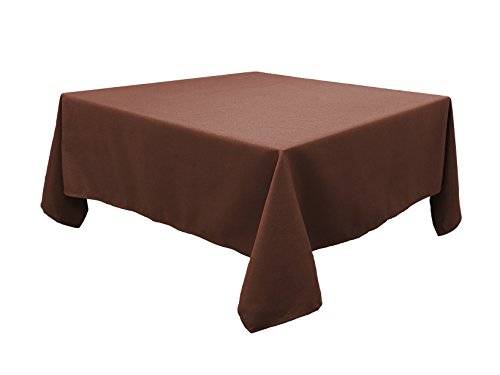 Tablecloth 52 X 52 Inch Waterproof coffee Tablecloth for Home Kitchen Dining room ()