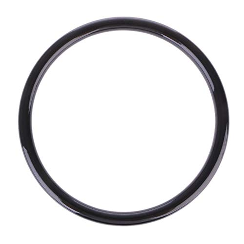 Simdoc Black Resin Round Plastic Purse Handle Replacement Multi-Purpose Plastic O Ring for Hardware Bags Ring Handle DIY Accessories