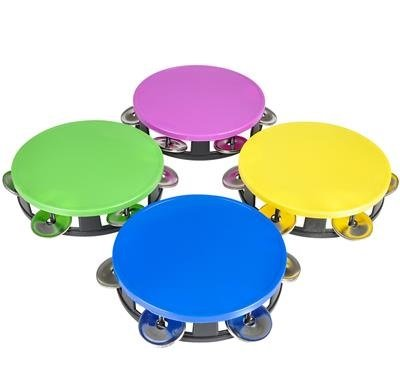 Sale!! 5.5 Neon Tambourines Set of 4, Colorful Party Favors, Party Instruments, Noisemaker Birthday...