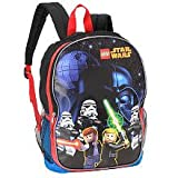 Lego Star Wars 16 Inch Galaxy Battle Backpack - Black, Blue and Red