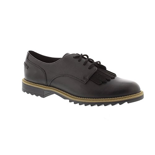 Clarks Griffin Mabel 26101099 Womens black Leather Lace Ups 41.5 EU (9.5 M US Women)