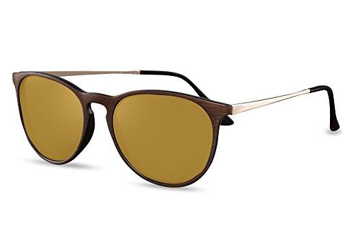 Rétro Brun Ca Leo Rondes 006 Sunglasses Lunettes Hommes Noir Cheapass Femmes SwBnTgqBx