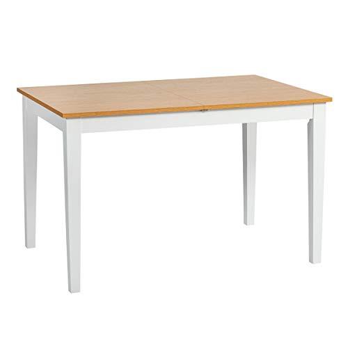 Mesa de comedor extensible FURNITURE-R Francia | Mesa de cocina de 6 a 8 plazas | 140 cm – 160 cm mesa de comedor extensible de madera maciza
