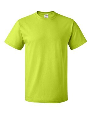 - Fruit of the Loom 5 oz. 100% Heavy Cotton HD T-Shirt (3931) Neon Green, S
