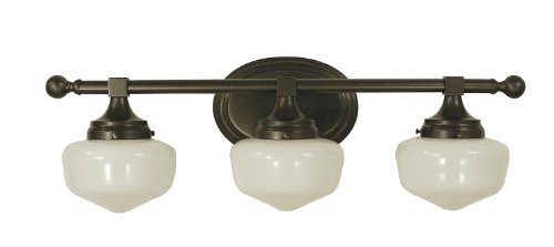 Framburg 2939 MB Taylor 2-Light Vanity Fixture with White Opal Glass Shades, Mahogany Bronze - Framburg Traditional Sconce