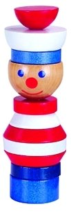 Handcrafted Wooden Stacking Sailor Puzzle - Montessori Toy (Handmade In Europe)