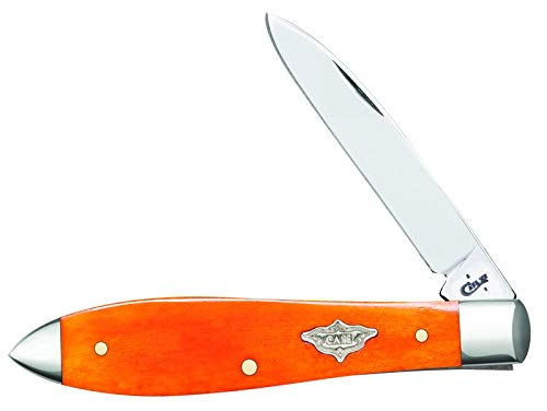 CASE XX Persimmon Bone Tear Drop Gent Stainless Pocket Knife Knives