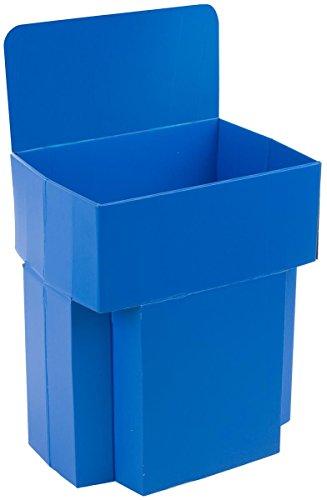 Set of 5, Single-Cell Dump Bin, Floor-Standing, Removable Header - Corrugated Cardboard, Blue - Cardboard Floor Display