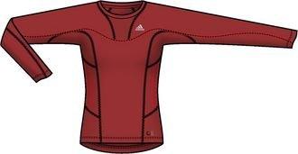 adidas W TS LS Camiseta de manga Mujer. Outdoor Fitness Sport, mujer, rojo