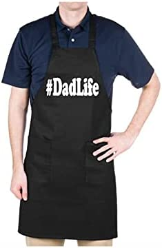 DKISEE Dadlife Aprons | #Dad Life Apron | Father's Day Apron | Gift for Dad | Aprons | Gift Apron | Chef Apron | Grilling Apron | Cook Aprons |