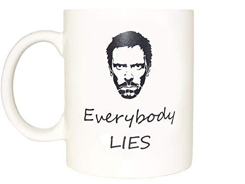 Everybody lies house Mug, Coffee Cup Funny Mug tea Birthday Gift for Him Dr Gregory House - Hugh Laurie