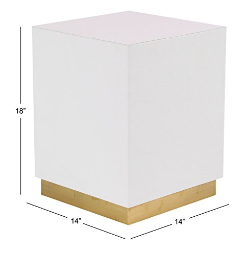 Deco 79 62776 Accent Table White, Gold by Deco 79 (Image #3)