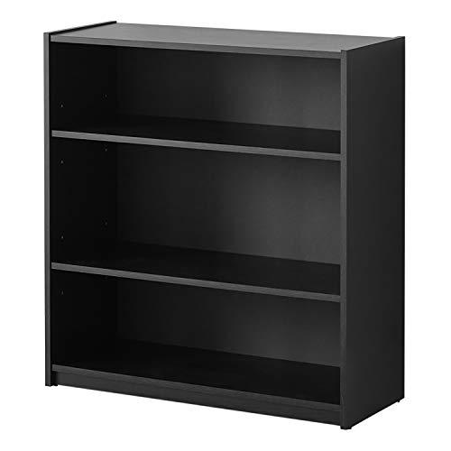Mainstays 3-Shelf Bookcase, Multiple Colors Black ()