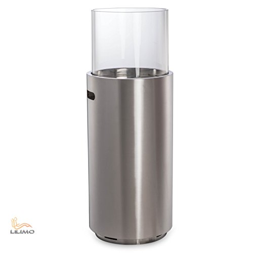 Standkamin MESSINA, Bio-Ethanol Kamin, Edelstahl, LILIMO ®
