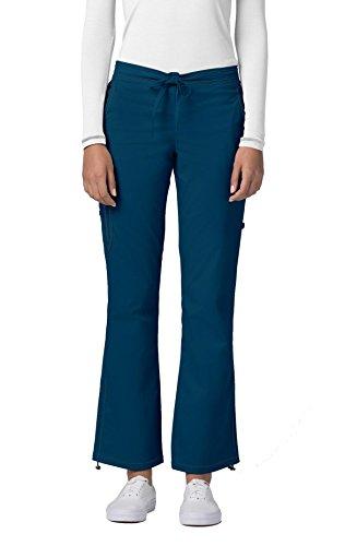 Adar Pop-Stretch Junior Fit Low Rise Boot Cut Bungee Leg Pants - 3102 - Caribbean Blue - XXS