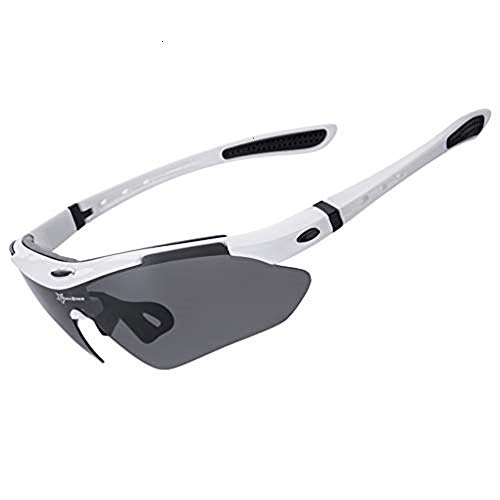 RockBros Polarized Sports Sunglasses UV Protection Cycling Glasses for Men Women Outdoor Running Driving Fishing Golfing ()