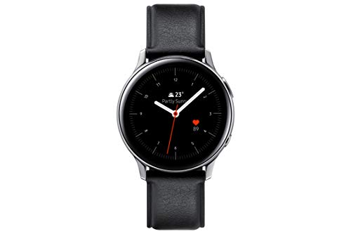 SAMSUNG SM-R820NSSAPHE Galaxy Watch Active 2 – Smartwatch de Acero, 44mm, color Plata, Bluetooth [Versión española]