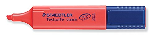 Staedtler Textsurfer Classic Highlighter - Red (Pack of 10)