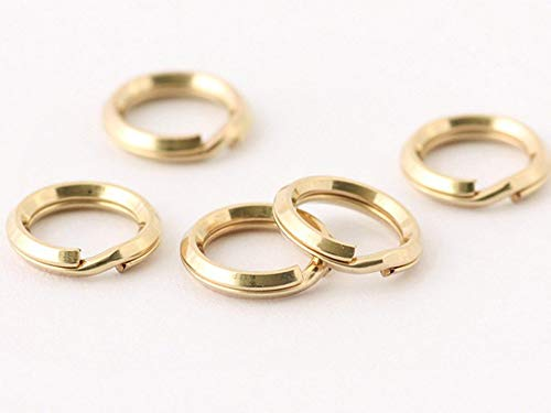 JensFindings 40 Qty. 14k Gold Filled Split Rings (5.2mm splitring Diameter) ()
