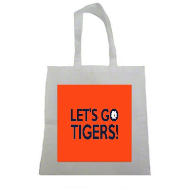 Lets Go Tigers Clemson 2017 Halloween Trick Or Treat Polyester White Tote Bag 15x16x 3.5 -