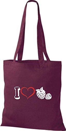 Shirtstown - Bolso de tela de algodón para mujer borgoña