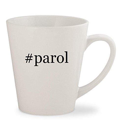 #parol - White Hashtag 12oz Ceramic Latte Mug Cup