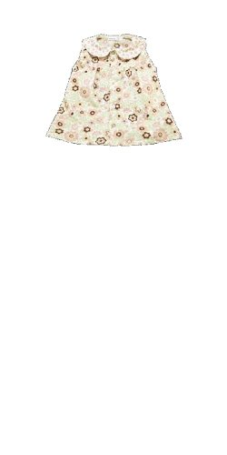 Under The Nile Organic Cotton Peach Blossom Poplin Peter Pan Blouse - 4T