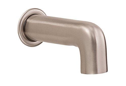 Danze D606558BN Parma Wall Mount Tub Spout without Diverter, 6 1/2-Inch, Brushed Nickel ()