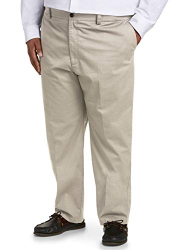 - Amazon Essentials Men's Big & Tall Relaxed-fit Wrinkle-Resistant Flat-Front Chino Pant fit by DXL, Khaki 44W x 30L