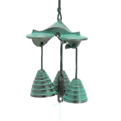 on Wind Chime:3 Bells Green Beehive #485-360 ()