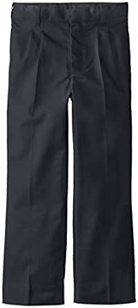 CLASSROOM Big Boys' Adjustable Waist Pleat Front Pant, Dark Navy, 8