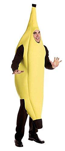 El Carnaval Disfraz plátano Adulto Unisex Hombre/Mujer