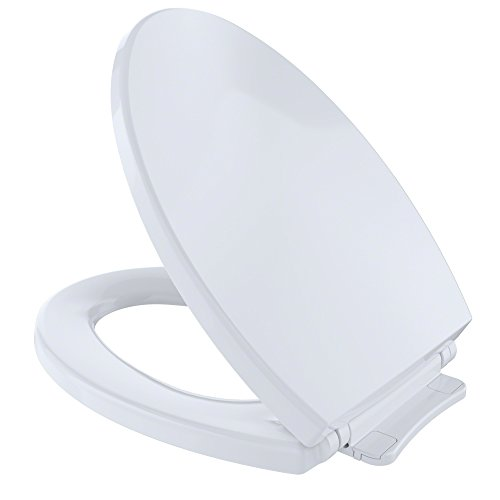 Toto SS114 01 SoftClose Elongated Toilet Seat Cover, Cotton White ()