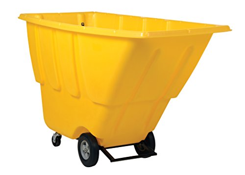 Vestil TDT-100-MD-YELLOW Medium Duty Tilt Truck, 1 cu. yd, Yellow - 1 Cu Yd Tilt Truck
