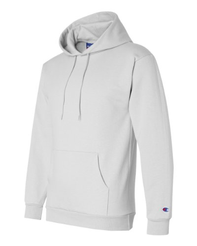 Champion Double Dry Action Fleece Pullover Hood, White, M