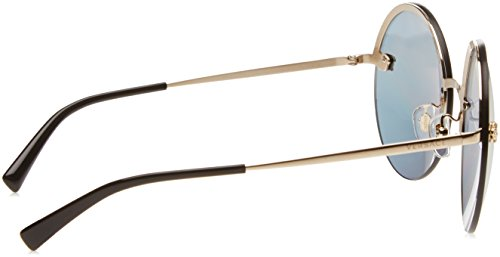 Versace Women's VE2176 Pale Gold/Grey Mirror Rose Gold Sunglasses by Versace (Image #3)