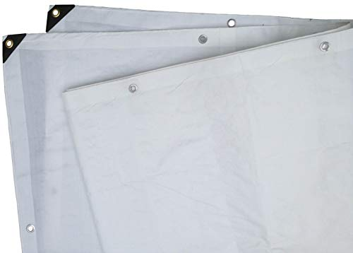 8 Ft. X 10 Ft. Heavy Duty 6 Oz. White Tarp 11-12 Mil Thick