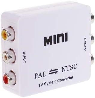 RCAケーブル NTSC/PALフォーマットの相互変換器(ホワイト).