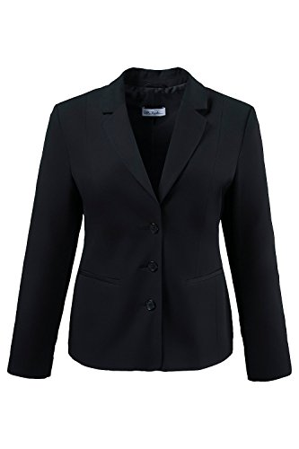 Ulla Popken Women's Plus Size Classic Timeless Stretch Blazer Black 18 696928 10