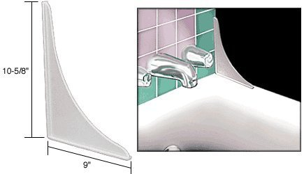 CRL Flat Profile Tub Splash Guards - Package by C.R. Laurence