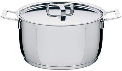 Alessi AJM101//16 Pots/&Pans Casserole /à frire en Acier Inoxydable 18//10 /Ø 160 cl Argent/é