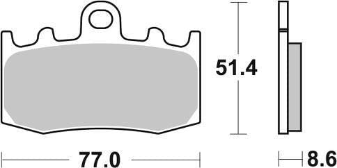 R 1150 RT R1150RT with Integral ABS 01 02 03 04 05 06 SBS Performance Front Street Standard Ceramic Brake Pads Set Genuine OE Quality 796HF