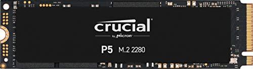 Crucial P5 2TB CT2000P5SSD8 Unidad interna de estado sólido-hasta 3400 MB/s (3D NAND, NVMe, PCIe, M.2, 2280SS)