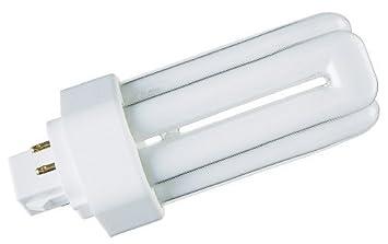 GE 18w Biax T/E 4-Pin Lamp 835 [3500k] Standard White GX24q-2 Cap ...