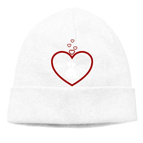 Hearts and Cat Men/Women Quick Dry Sports Beanie Hat -