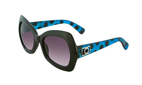 DG Eyewear Sunglasses for Women Fashion - Assorted Styles & Colors (Black/Blue, - Affordable Sunglasses