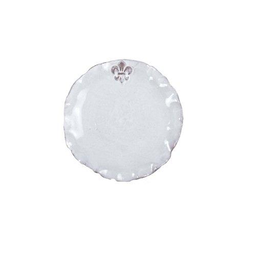 Abigails Fleur De Lis White Dinner Plate