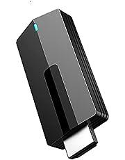 MiraScreen 4K draadloze HDMI-displayadapter, 2,4 G/5 G WiFi-Display Dongle HDMI Streaming Stick voor iOS, Windows, Android naar TV /Projector, Display Ondersteuning DLNA Miracast Airplay
